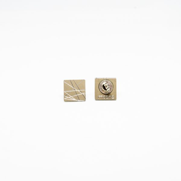 sun mini square fülbevaló bronz