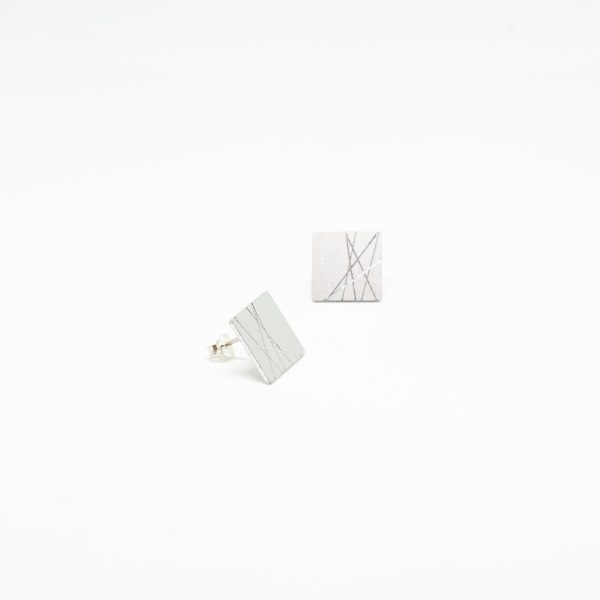 sun mini square fülbevaló ezüst