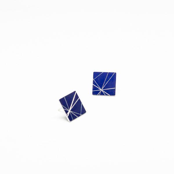 stars mini square kék fülbevaló
