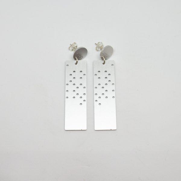 moon dots long ezüst fülbevaló