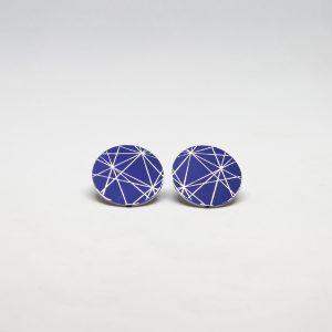 stars mid kék fülbevaló