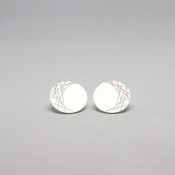 moon mid ezüst fülbevaló