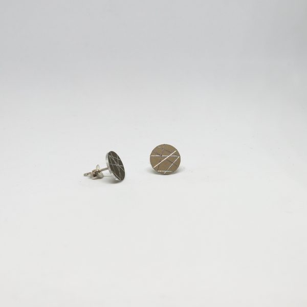 sun mini round bronz fülbevaló