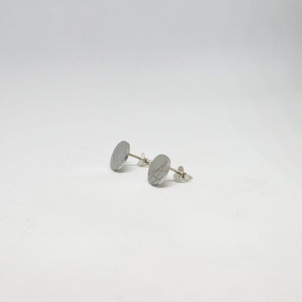 moon mini round ezüst fülbevaló
