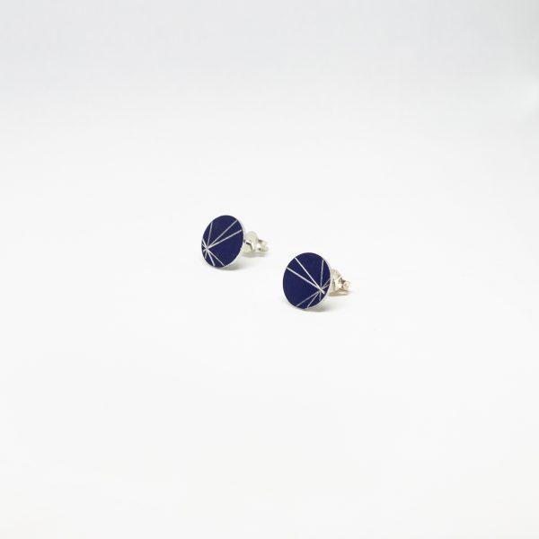 stars mini round kék fülbevaló