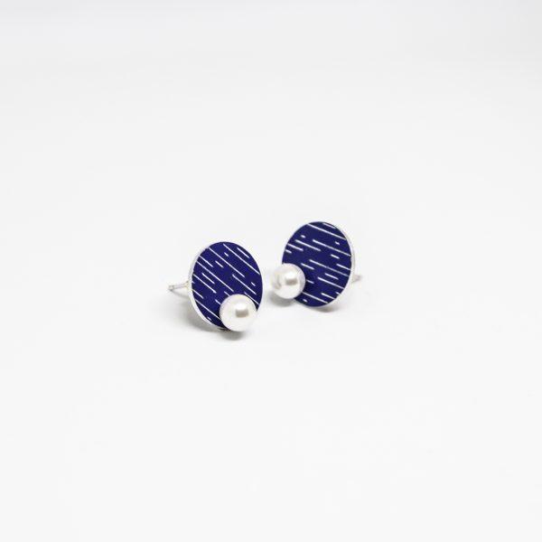 pearl mini kék fülbevaló