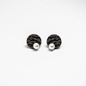 pearl mini fekete fülbevaló