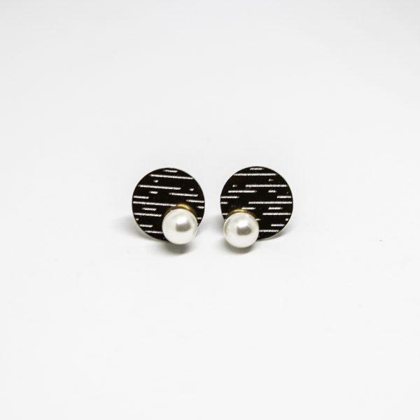 pearl mini bronz fülbevaló