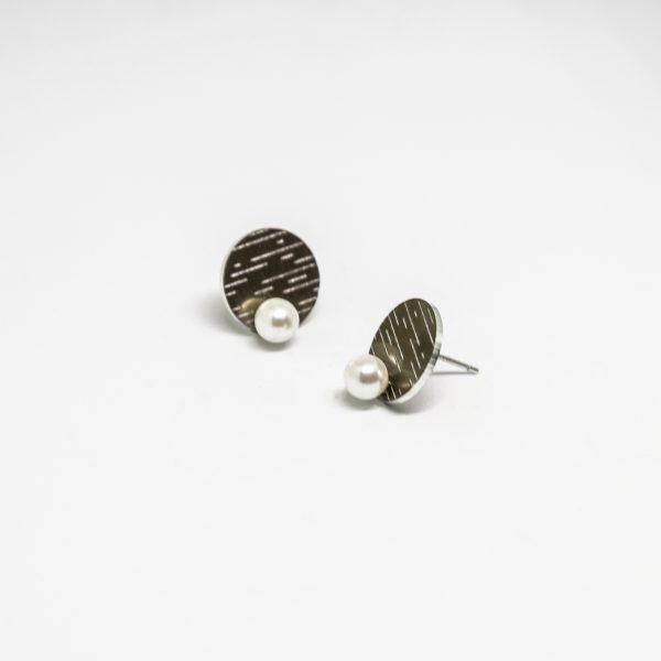 moona pearl mini fülbevaló bronz