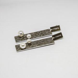 pearl long bronz fülbevaló