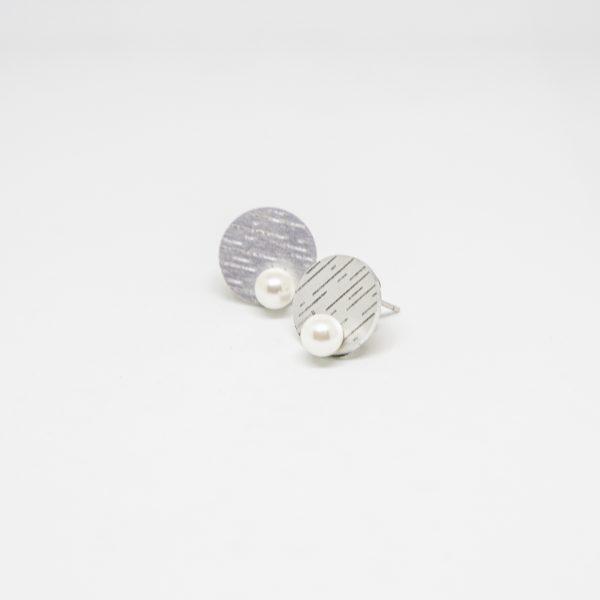 pearl mini ezüst fülbevaló