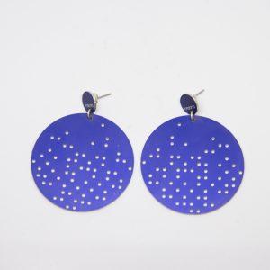 stars dots grande kék fülbevaló