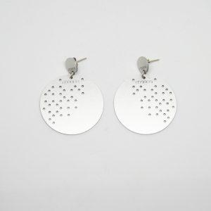 moon dots mid ezüst fülbevaló