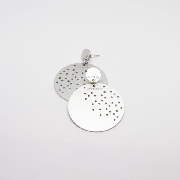 moond dots mid ezüst fülbevaló
