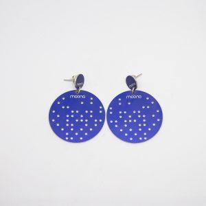 stars dots mid kék fülbevaló