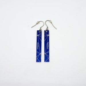 stars line kék fülbevaló