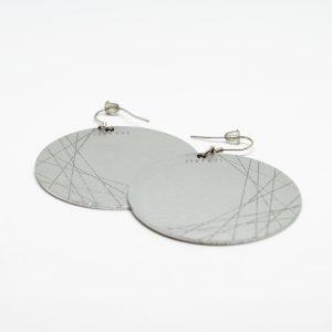 moon grande ezüst fülbevaló