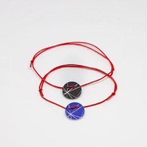 stars bracelet fekete kék karkötő