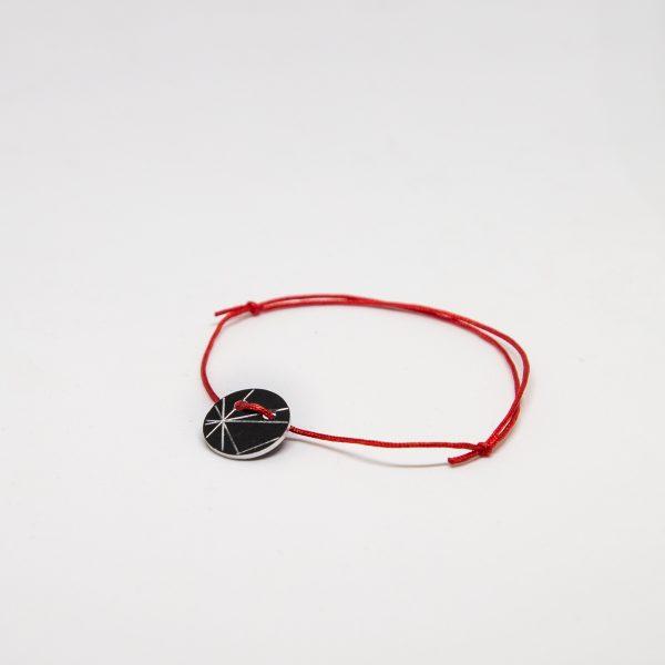stars bracelet fekete karkötő
