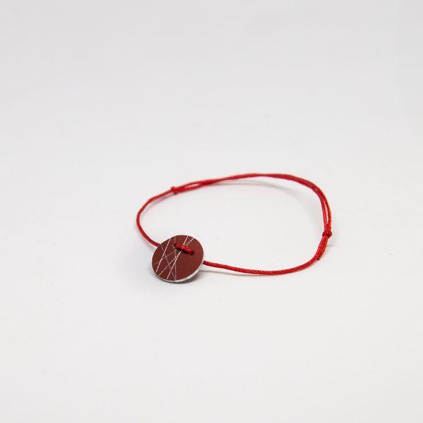 stars bracelet piros karkötő
