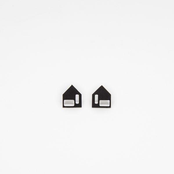 moona casa fekete fülbevaló