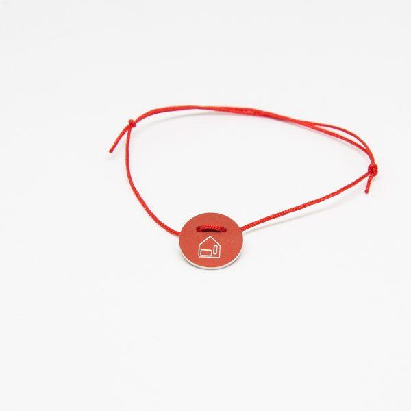 casa bracelet round piros karkötő
