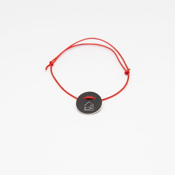 casa bracelet round fekete karkötő
