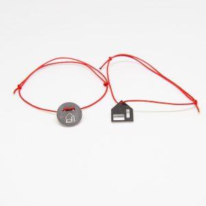 casa bracelet fekete karkötő